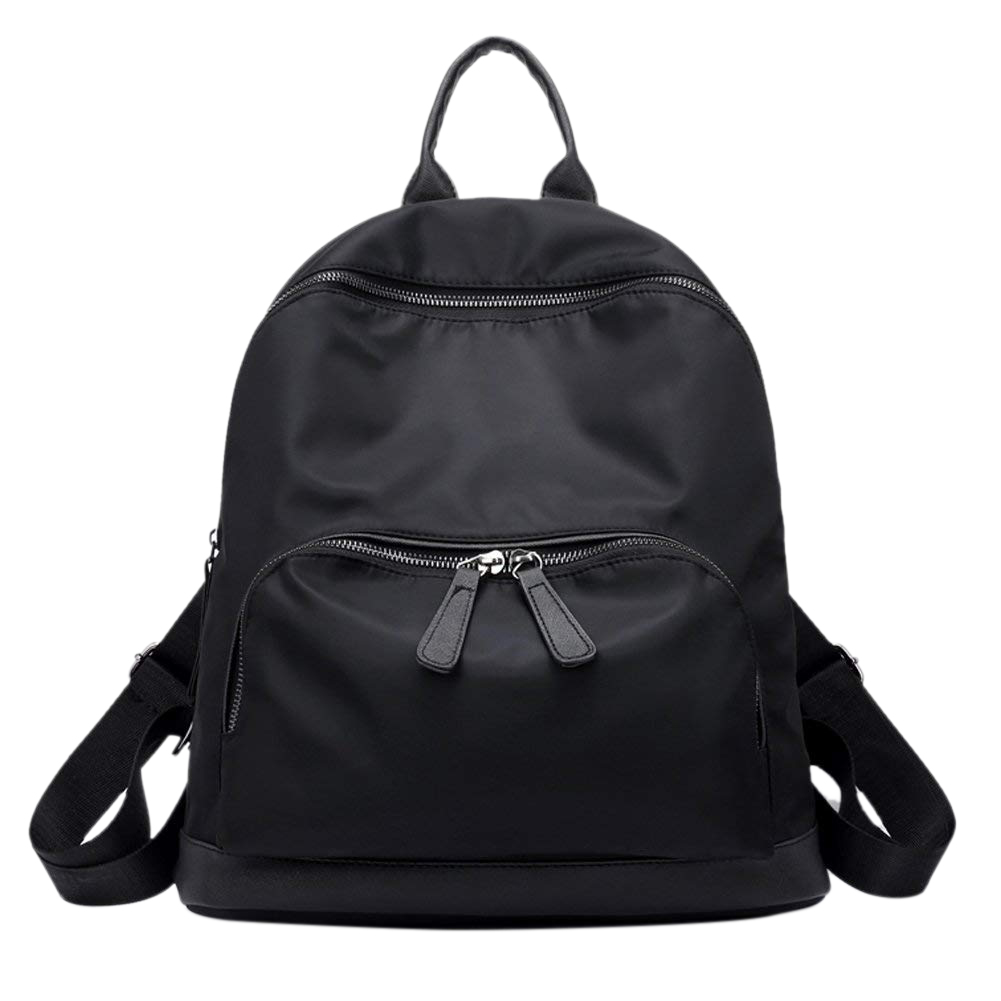 Womens Small Backpack Casual Nylon Daypack Lightweight Water Resistant School Bag, BlackWomens Small Backpack Casual Nylon Daypack Lightweight Water Resistant School Bag, Black
