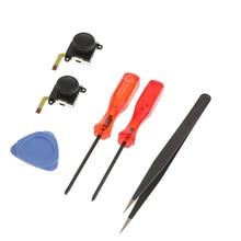 Grip Joystick Tool Set Game Repair Parts Thumb Stick Metal Screwdriver Tweezer 3D Analog Replacement Rocker For Nintendo Switch