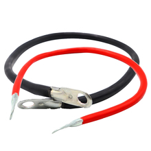 2 Pieces Universal Car Boat Battery 5 AWG Gauge Cable Power Inverter Wire 50cm Strong Resistance High Low Temperature