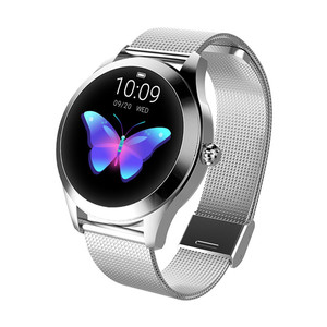 Image 4 - Moda inteligentny zegarek kobiety KW10 IP68 wodoodporna wielu trybów sportowych krokomierz z pomiarem akcji serca bransoletka Fitness dla pani