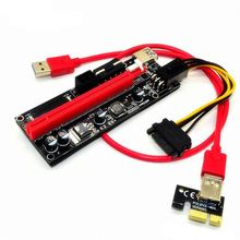 USB 3.0 ver009S PCI-E Express 1x To 16x Extender Riser Card Adapter Cable Vertical Board Connectors Support Dropshipping