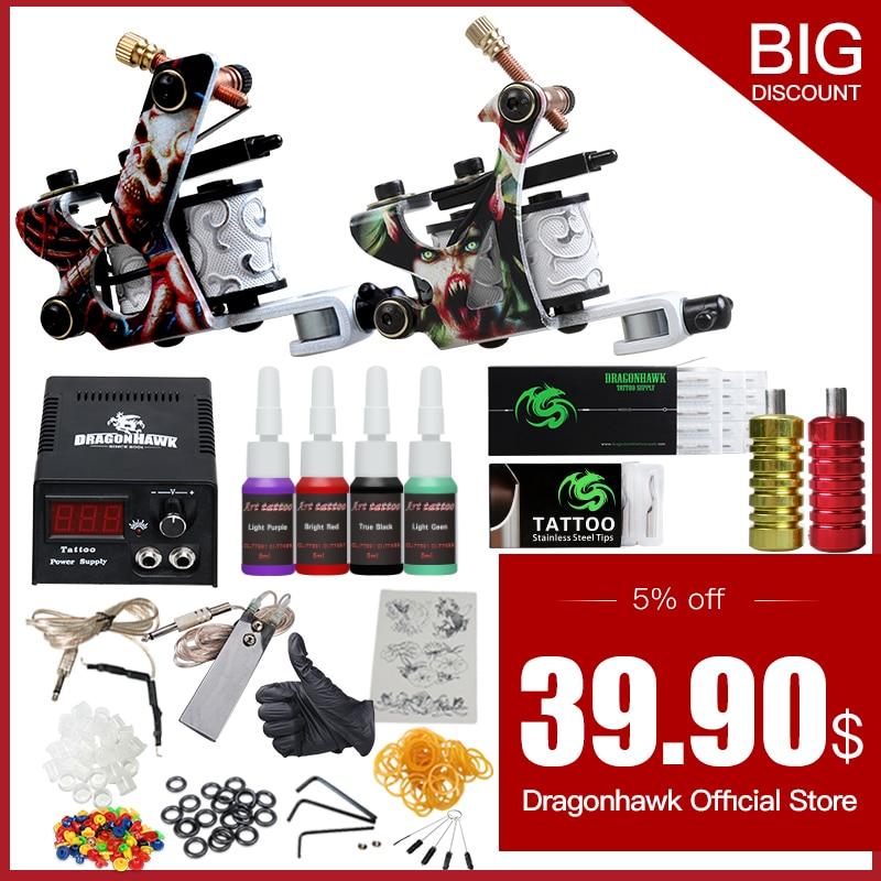 Aliexpress.com : Buy Complete Tattoo Starter Kits Tattoo Machine ...