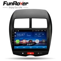 Funrover 10,1 Android 8.0 Штатное Головное устройство Mitsubishi ASX 2010 2018 GPS Android aвтомагнитола маг нитола 2 din автомагнитолы Андроид для Митсубиши ASX аксессуа
