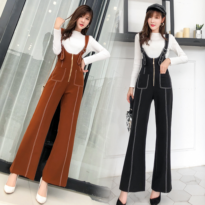 Pengpious winter new flare pants with zipper pockets and knit sweater long sleeves two pieces set fashion women 3