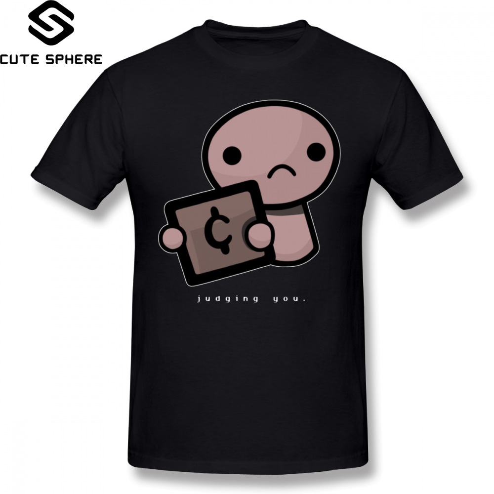 The Binding Of Isaac   T     Shirt   Judging You Dark Background   T  -  Shirt   Oversized Streetwear Tee   Shirt   Funny Graphic Male Tshirt