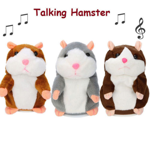 Cute Cheeky Hamster Talking Mouse Pet Christmas Toys Speak Sound Record Gift Mouse Pet Sound Nod Gift Children Plush in Electronic Plush Toys from Toys Hobbies