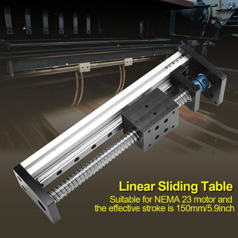 Linear Sliding Table Ball Screw Linear Stage Slide 150mm for NEMA 23 Motor