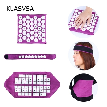 KLASVSA Acupressure belt Massager Acupuncture Stress Reflexology Mat Head Back Leg Pain Relief Relax Health Care