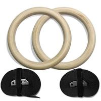 Wooden 28mm Exercise Fitness Gymnastic Rings for Gym Crossfit Pull Ups Muscle Ups Fitness Equipment