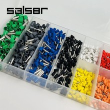 цена на 800pcs/box Cable Wire Terminal Kit End Tube Mixed Copper Wire Crimp Connector cold pressed electrical terminals