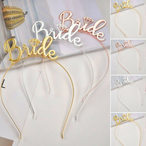 Wedding Decoration Girls Hair Hoop Headband Cute Hair Clasp Bride Garland Bachelor party Rose Gold Sliver in Party Hats from Home Garden