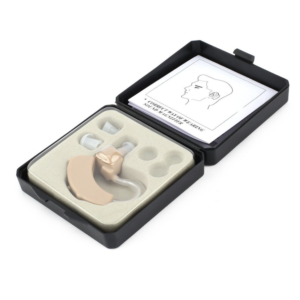 Plastic Super Mini Adjustable Hearing Aids Ear Sound Amplifier Volume Tone Listen Hearing Aid Kit Hook In Ear Care Emergency Kit