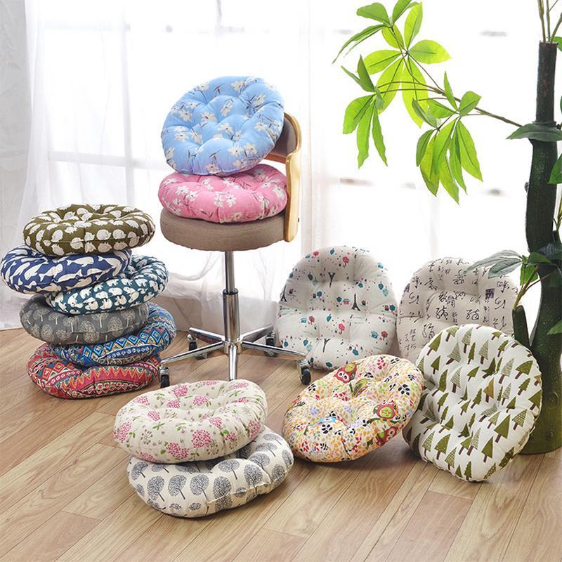 Chair Cushion Seat Pad Rough Cloth Round Cotton Linen Cushion Meditating Chair Seat Cushion Japanese Futon Mat Sofa Throw Pillow