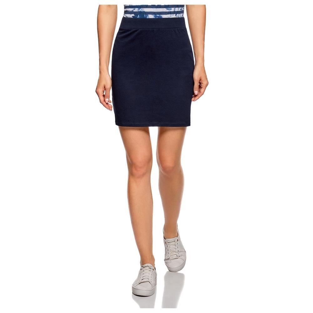 Women's Clothing - Skirts oodji 14101001B women's clothing - skirts Basic Jersey Skirt for female hot brand cycling jersey sets short sleeve blue shark print cycling jersey mtb cycling clothing cycling set pro team men cs010
