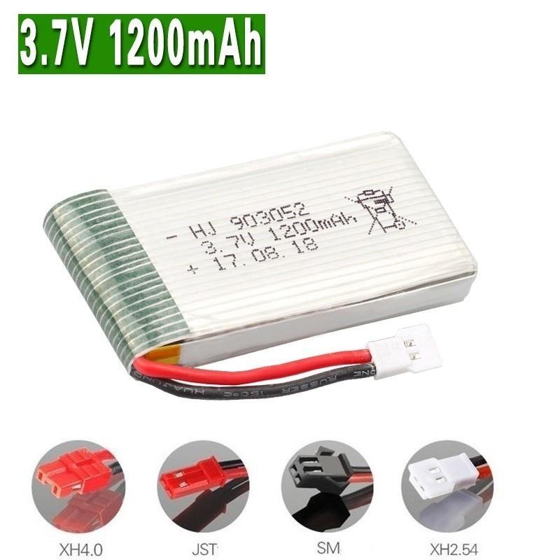 1200mAh 3.7v Lipo Battery For SYMA X5 X5S X5C X5SC X5SH X5SW M18 H5P HQ898B HQ859B H11D H11C T64 T04 T05 F28 F29 T56 T57 903052