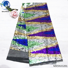 Beautifical sequin tulle lace africa fabrics nigerian fabric 2018 african high quality latest MX5N332