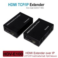 HDMI Extender Splitter Over TCP IP 100m HDMI Extensor Cat5e/Cat6 UTP RJ45 Network Cable Transmissor Receiver IR Remote Repeater