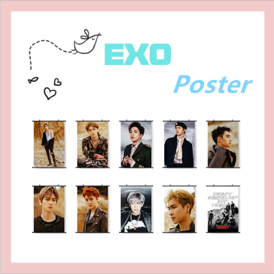 Jewelry & Accessories Kpop Exo Dont Mess Up My Tempo Wall Scroll Poster Chen Xiumin Hang Up Fabric Photo Picture Jewelry Findings & Components