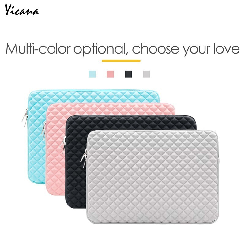 Yicana Laptop Bag Notebook Sleeve case For Macbook Air Pro Retina 11 13 15 Ultrabook waterproof Lycra Tablet protector Cover