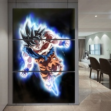 3 Piece Animation Goku Dragon Ball Canvas Printed Wall Pictures Home Decor For Living Room Poster Wholesale