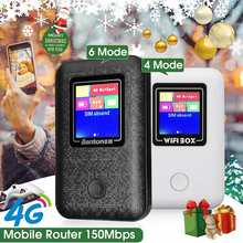 4Mode/6Mode Wireless 4G Mobile Router 150Mbps Highspeed LCD Pockets Hotspot 2100mAh Portable Wifi Modem Support 8 Devices