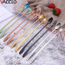 Spoons Tableware Ice-Scoop Long-Handle Cuillere Kids Kitchen-Tool 304-Stainless-Steel