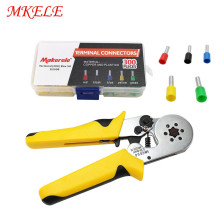 Crimping Tool HSC8 Cold Pressing Terminal Pliers Multi-function Crimping Pliers Needle Clamping Wire Electrical Tools Small Type original japan keiba vise p 108 200mm 8 inch electrical flat nose locking pliers for cutting crimping clamping tools