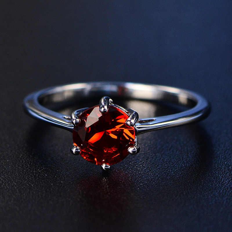 PANSYSEN จริงใหม่ 100% 925 เงินสเตอร์ลิง Aquamarine แหวนสุภาพสตรีคุณภาพสูง 8 สีเครื่องประดับอัญมณีแหวนขนาด 4-12