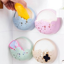 Color Random Toilet Suction Cup Holder Bathroom Kitchen Soap Dish Home Soap Holder Tray Wall Holder Make Up Storage Box(China)