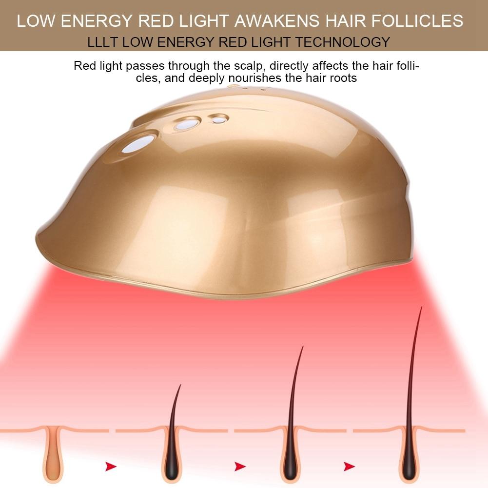 LLLT 160 diodos crecimiento del cabello casco de crecimiento de cabello con láser reducir el gorro para la caída del pelo tratamiento del cabello pelo rápido recrecimiento láser Cap casco - 6