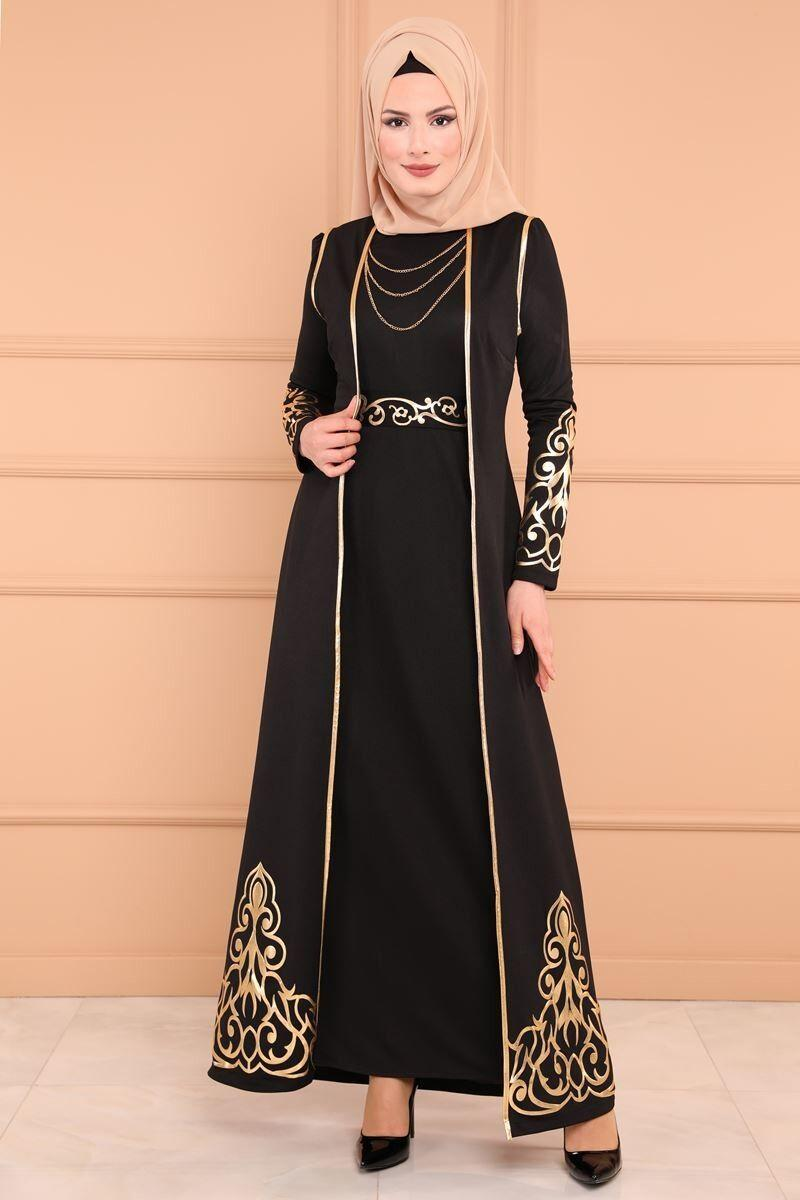 2PCS Sets Elegant Muslimah Hot Stamping Abaya Turkish Singapore Full Length Jilbab Dubai Female Muslim Islamic Dress Ramadan New