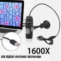 Best Price Mega Pixels 1000X 1600X 8 LED Digital USB Microscope Microscopio Magnifier Electronic Stereo USB Endoscope Camera
