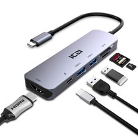 ICZI 6 in 1 USB C HUB Multifunction type C to 4K HDMI USB 3.0 SD TF Card Converter for Macbook Pro 2017 Laptop Accessories