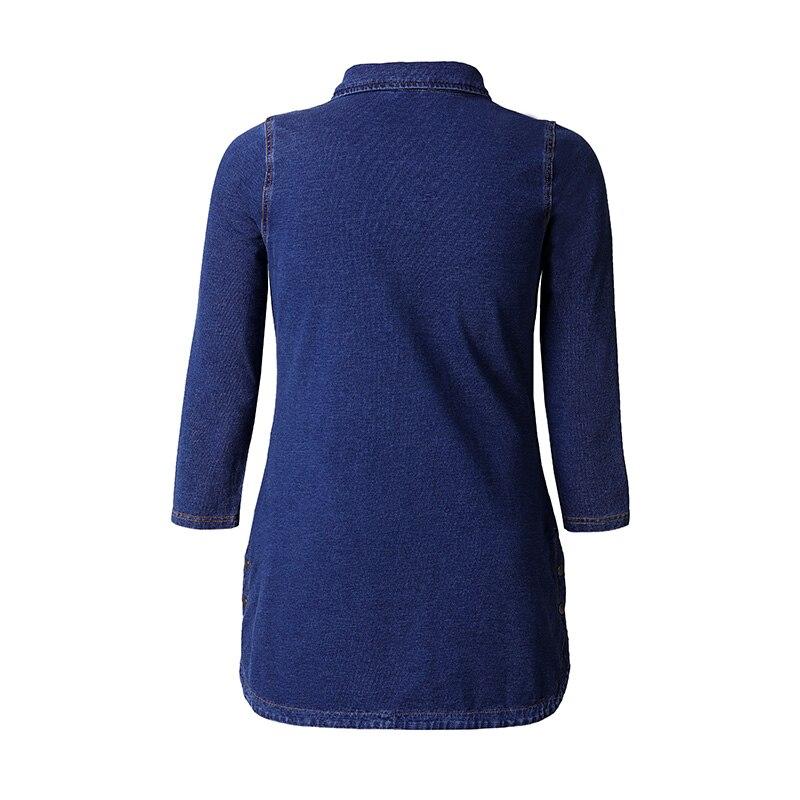 Miaoke السيدات الربيع كبير حجم الدنيم سترة النساء ملابس عالية الجودة الأزياء خمر أنيقة زائد حجم جان منفذها سترة-في السترات الأساسية من ملابس نسائية على  مجموعة 2