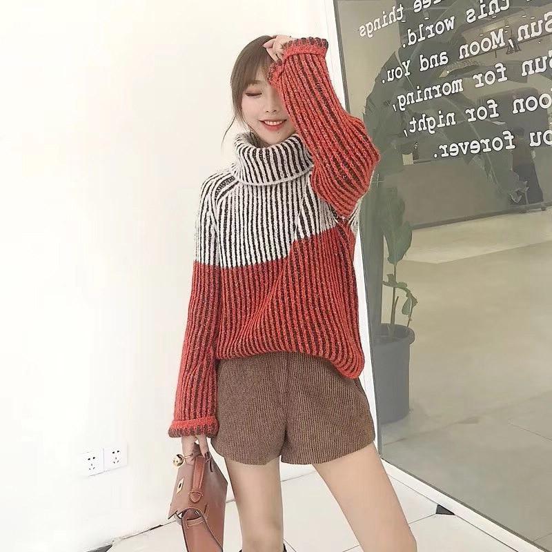 Ocio Lana De Otoño Señoras Coreano Gruesa Nuevo Ropa Suelta Mujer Color Picture Engrosamiento Patrón Suéteres XBqxgTnw