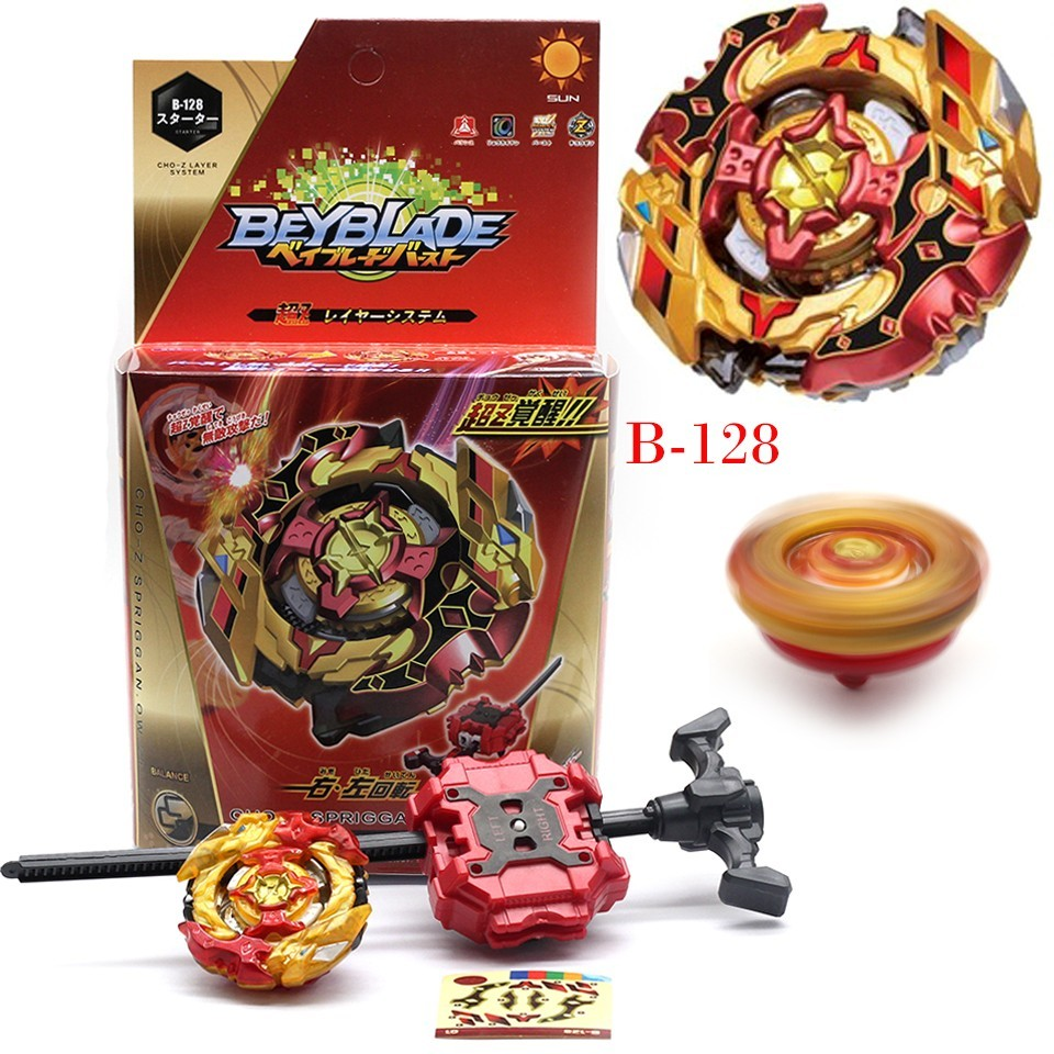 10 pièces whosales Nouvelle Beyblade Burst B127 Jouets Arena Beyblades Toupie Bayblade Metal Fusion With Lanceur Dieu Toupie Bey Lame