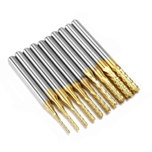 10Pcs 0.8Mm-3Mm Carbide End Mill Engraving Bits Cnc Rotary Burrs Set Tool Pcb Mould Plastic Fiber Carbon Fiber Hardwood, 1/8'' 1pc 0 5mm high quality carbide end mill engraving bits for cnc pcb rotary burrs silver color hot sale