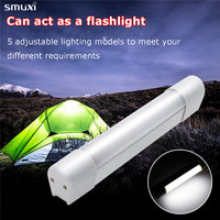 Smuxi Portable Soft Beam Camping Lamp Outdoor Camp LED Tube Tent Night Light Bulb USB Powered With Magnet Service Lighting