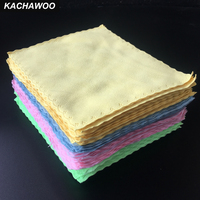 Kachawoo 100pcs 175mm X 145mm Double sided Velvet Microfiber Glasses Cleaning Cloth Customize Sunglasses Cloth Mix Color