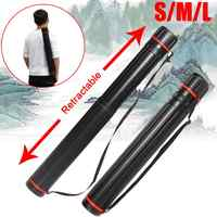 Adjustable Drawing Picture Storage Tube Poster Scroll Holder Bow Arrow Quiver Tube 63-135 cm Painting Art Supplies