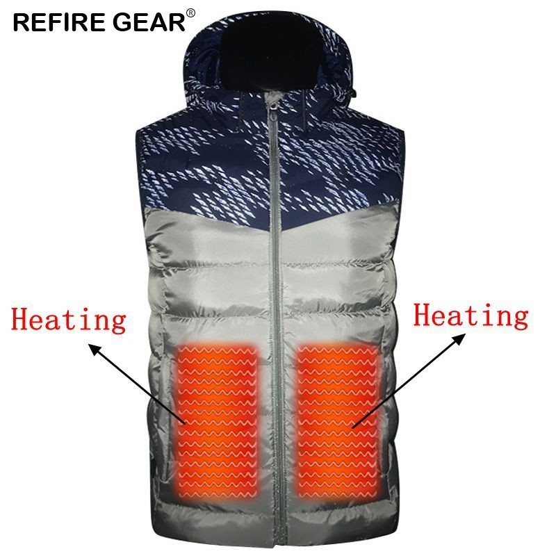 Refire Gear Winter Outdoor Usb Heating Vest Jacket Electric Thermal Warm Inside Coat Hiking Sports Vest Heating Down Jacket