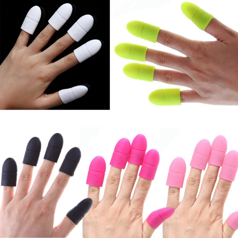 Monja Nail Art Tips Uv Gel Eraser Wrapped Silicone Elastic Soak Cap Clip Manicure Cleaning Varnish Can Be Reused