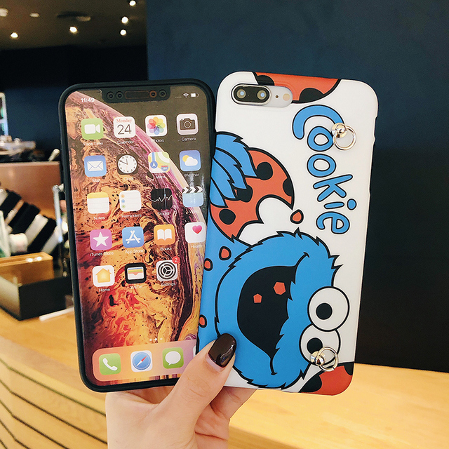Cute Cartoon Phone Case For iPhone with Lanyard Strap