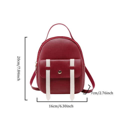 Mulheres Meninas Mini Faux Leather Backpack Mochila Saco de Escola Pequena Bolsa De Viagem Novo Preto Azul Rosa Cinza Vermelho
