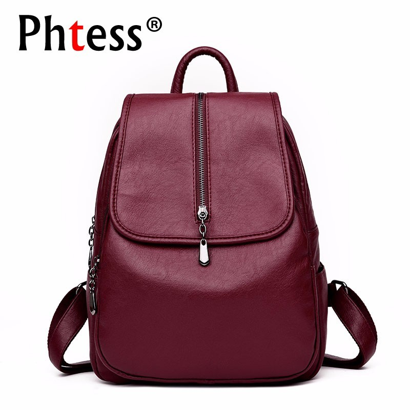 2019 Women Backpacks Women Leather Backpacks High Quality School Bags For Girls Large Capacity Casual Daypack Rucksacks Female2019 Women Backpacks Women Leather Backpacks High Quality School Bags For Girls Large Capacity Casual Daypack Rucksacks Female