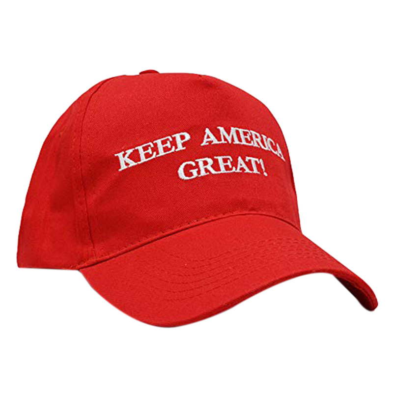 Enthusiastic 1 Pcs Keep America Great Donald Trump Slogan With Usa Flag Cap Adjustable Baseball Hat Red Attractive Designs; Sports & Entertainment Golf Caps