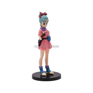 Image 5 - Figurine Dragon Ball Z 3 styles, paillettes et Glamours, déjeuner, Buruma Bulma, en PVC à collectionner, jouet pour enfant, cadeau
