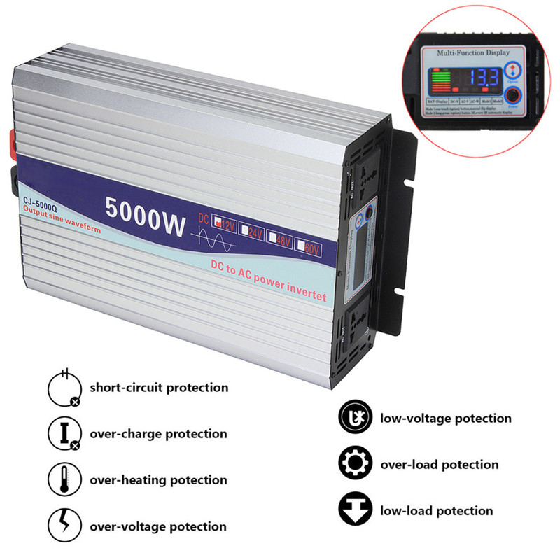 Intelligente Screen Reine Sinus Welle Power <font><b>Inverter</b></font> 12 V/24 V Zu 220 V 3000 W/4000 W /5000 W/6000 W Konverter image