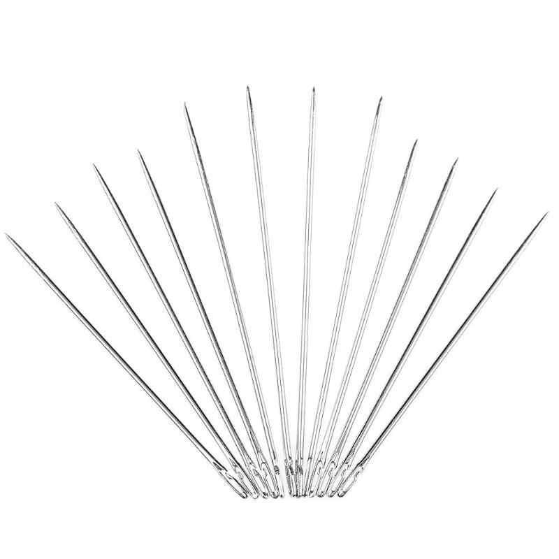 12 ピース/セット 2 穴ブラインド針自動スレッディング DIY 針仕事 Diy の縫製ピン針