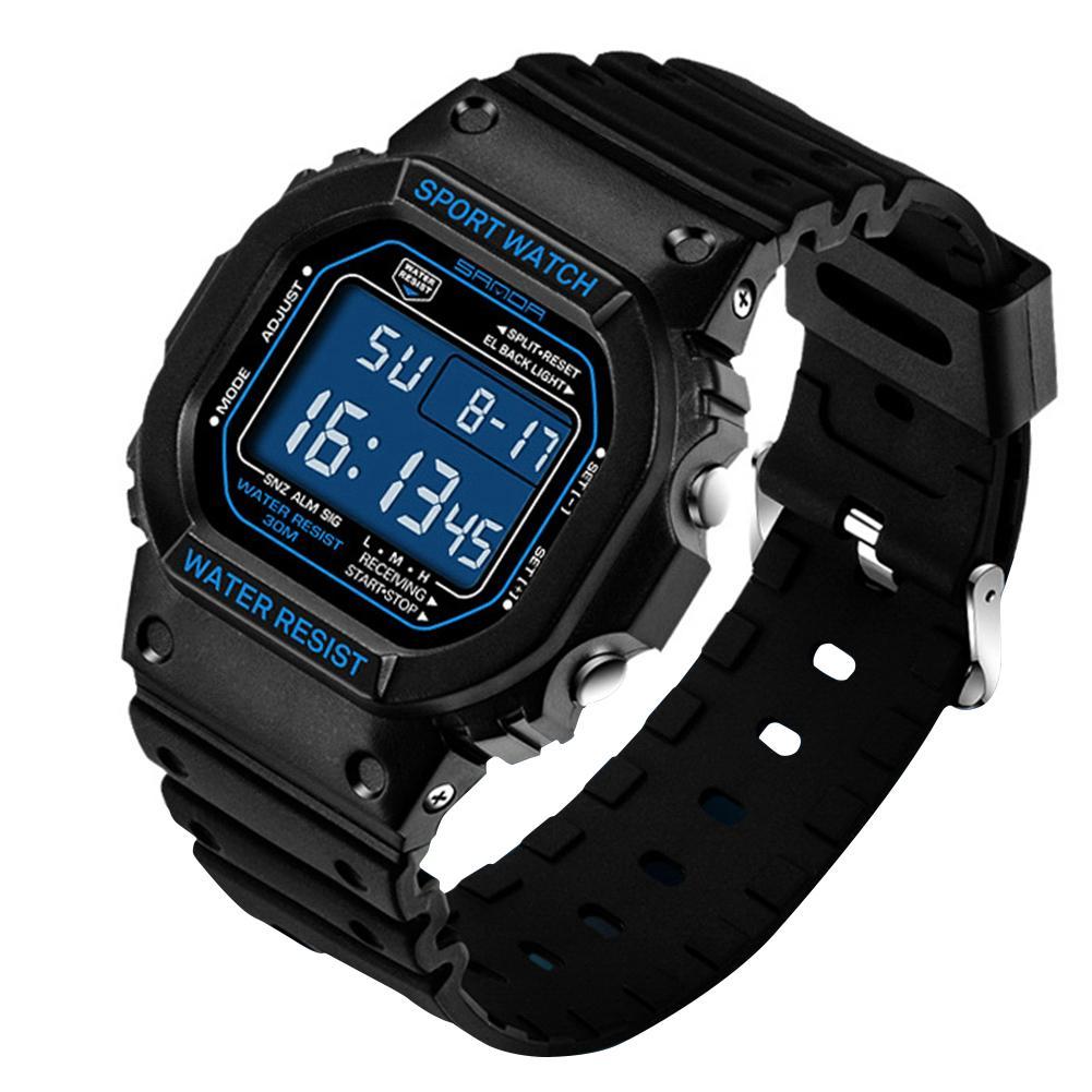 Reloj 2018 Mode Unisex Wasserdichte Horloges Mannen Digital Display Alarm Leucht Sport Armbanduhr Weniger Teuer Digitale Uhren